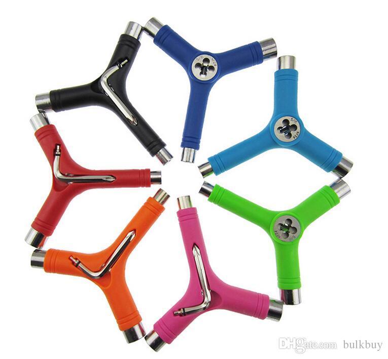 전문 스케이트 보드 Y 형 도구 휴대용 렌치 스패너 도구 다기능 렌치 도구를 조정 도매