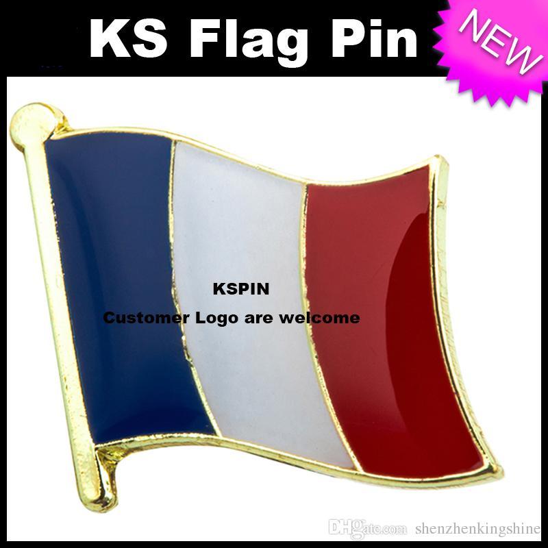 Drapeau France Drapeau Pin 10pcs beaucoup Expédition gratuite KS-0057