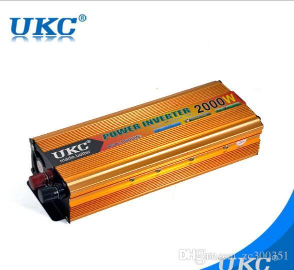 Taşınabilir Araç Şarj 2000 W WATT DC 12 V AC 220 V 50 Hz Araba Power Inverter Dönüştürücü Trafo Güç Kaynağı