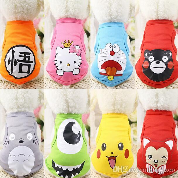 Pet Products Dog Supplies Dog Clothes Costume For Dogs Puppy T-shirt Dog Apparel Wear Summer Vest Chihuahua Free Shipping 02#