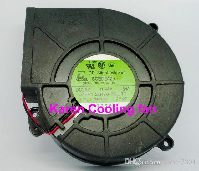 Servo 12CM 24V 0.32A SCBD24B4-985 SCBD24Z7 0.34a Ventilador silencioso da CC do ventilador do turbocompressor, ventilador sem escova do ventilador da CC