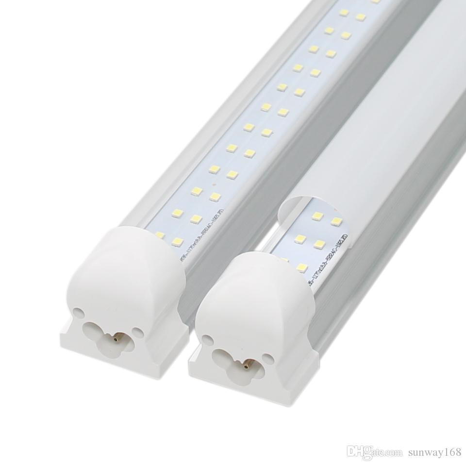 Integrato 4ft T8 LED tubi illumina 30W doppia fila 192LEDs 1200mm portato tubo per il raffreddamento Lights AC85-265V zavorra tubi led compatibili