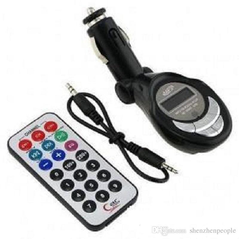Красочный автомобильный MP3-плеер Беспроводной FM-передатчик ЖК-дисплей USB / SD / MMC / CD Пульт дистанционного управления Складной автомобильный MP4 MP3 FM-модулятор-плеер