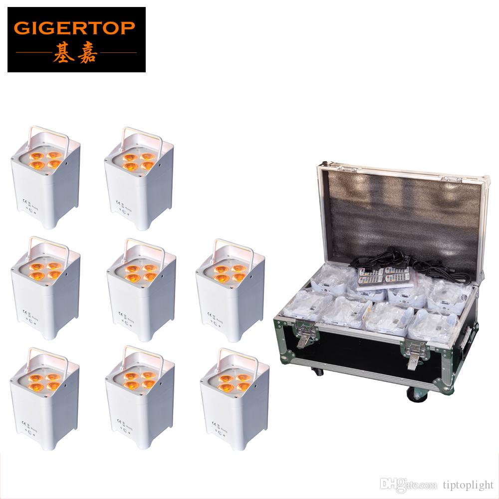 Discount Price Charging Flight Case 8in1+8XLOT Infrared 4x6W 6in1 Wireless Battery Led Par Light DMX6/10 Channels No Work Noise TP-B05