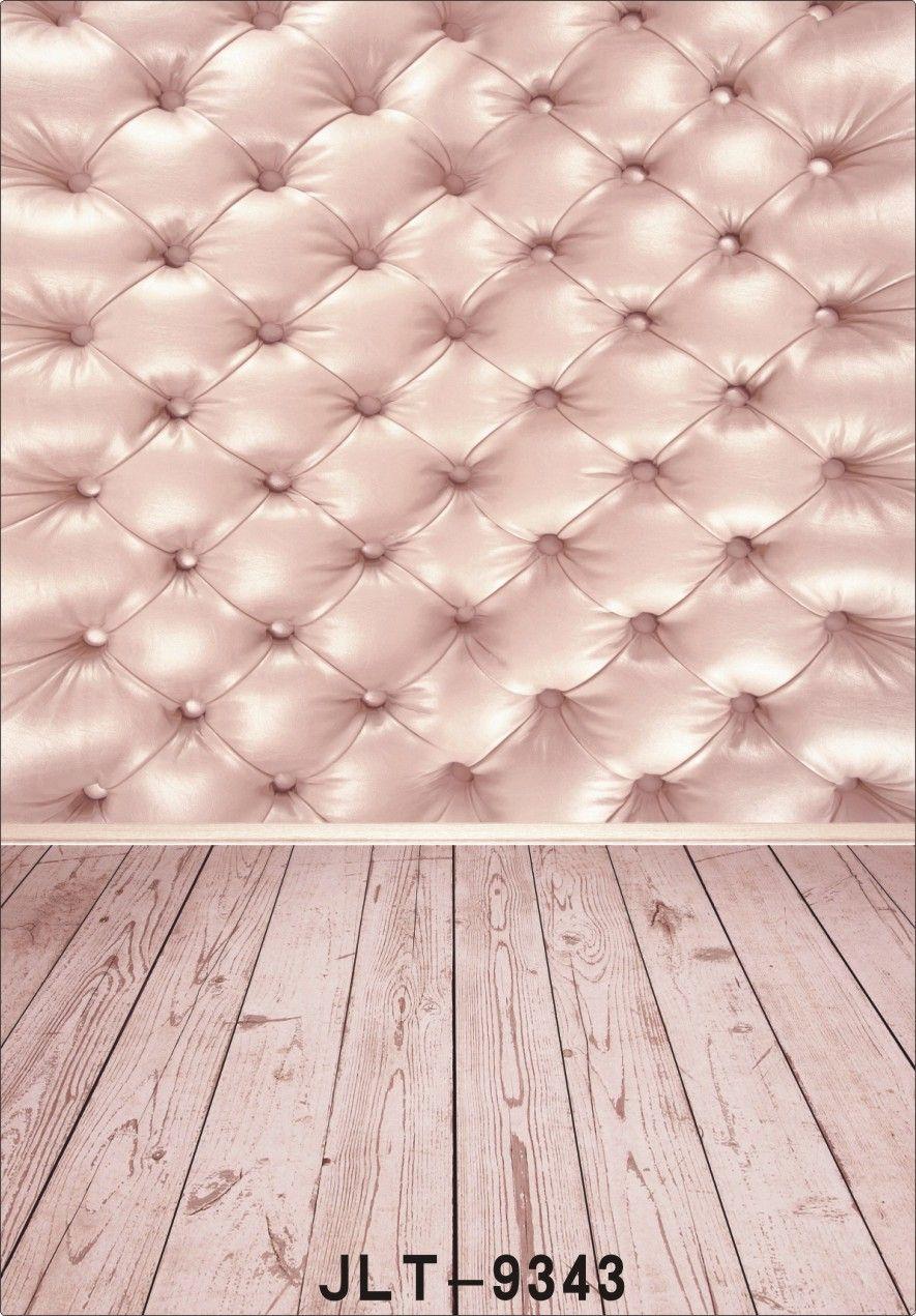 rosa copetudo cabecero de cama cama fondo de fotografía de piso de madera para la boda de los niños equipo de bebé impreso telón de fondo de vinilo para estudio fotográfico