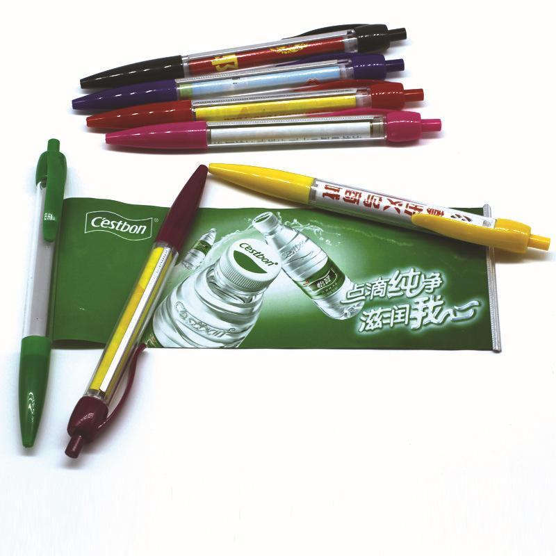 Fabricante de personalizado puxar publicidade escova de plástico caneta lala caneta haste banner personalizado korah caneta e papel