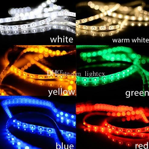 LED 스트립 빛 3528 유연한 60LED / m 방수 램프 빛 5A 전원 레드 / 블루 / 그린 / 따뜻한 화이트 / 화이트 / 옐로우 크리스마스를위한 주도
