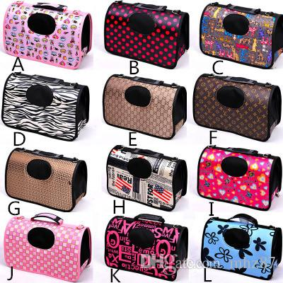 Pet Dog Cat Tote Carrier Small Medium Large Cani Carrier Design Fanshional Borsa per cani portatile rimovibile Facile da trasportare Viaggio applicabile