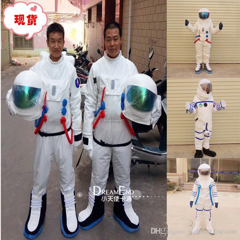 2018 завод прямая продажа космический костюм костюм талисман костюм астронавта костюм талисмана с рюкзаком с логотипом перчатки, обувь, Бесплатная доставка взрослый размер