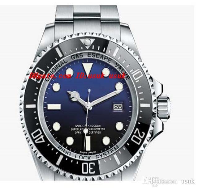 Luksusowe zegarki Nowe Męskie SS Sapphire Najnowszy model James Cameron Faded Blue Mens Męskie zegarki