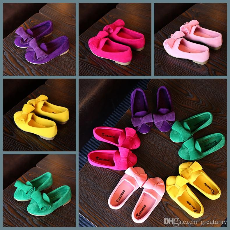 Baby Girl Shoes cotton Casual Kids Shoes With Bowtie Bow-knot Solid Candy Color Girls Sneakers Children Soft Shoes 21-30