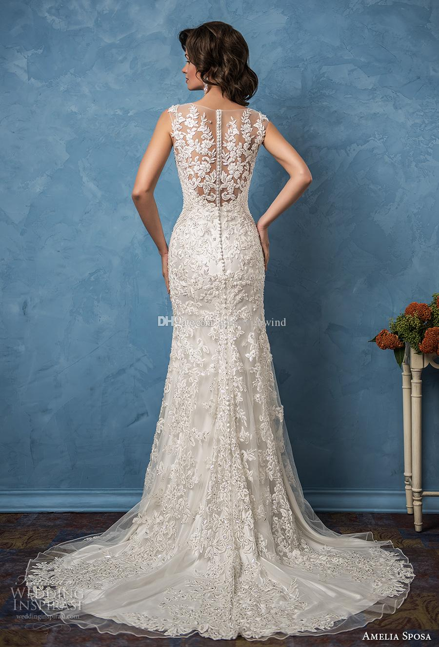 Mermaid Wedding Dresses 2017 Amelia Sposa Bridal Gowns Sleeveless ...