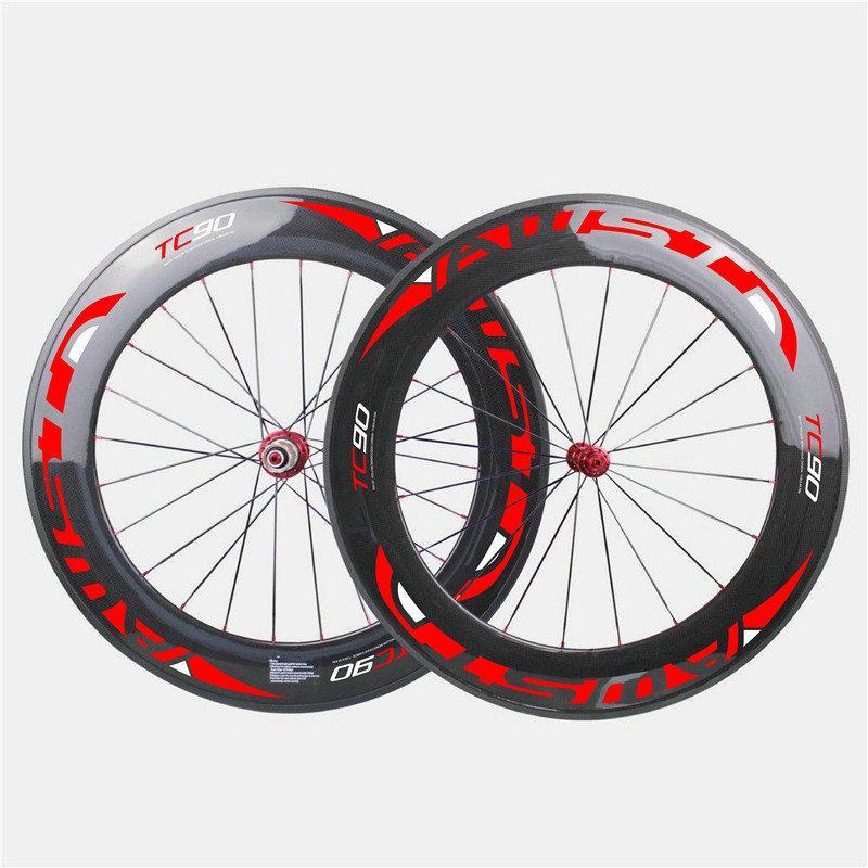 Au-Carbon en carbone de 88mm Vélo Roues de carbone Noir Bob Road Roues de vélo 3K Clucher 700c Roues de carbone avec surface de basalte Livraison gratuite
