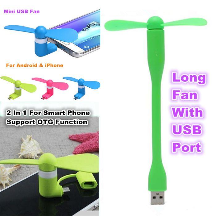 미니 USB 팬 포켓 USB 가제트 휴대용 여름 마이크로 USB 냉각 팬 아이폰 안 드 로이드 OTG 전화에 대 한 6colors 전원 은행 노트북