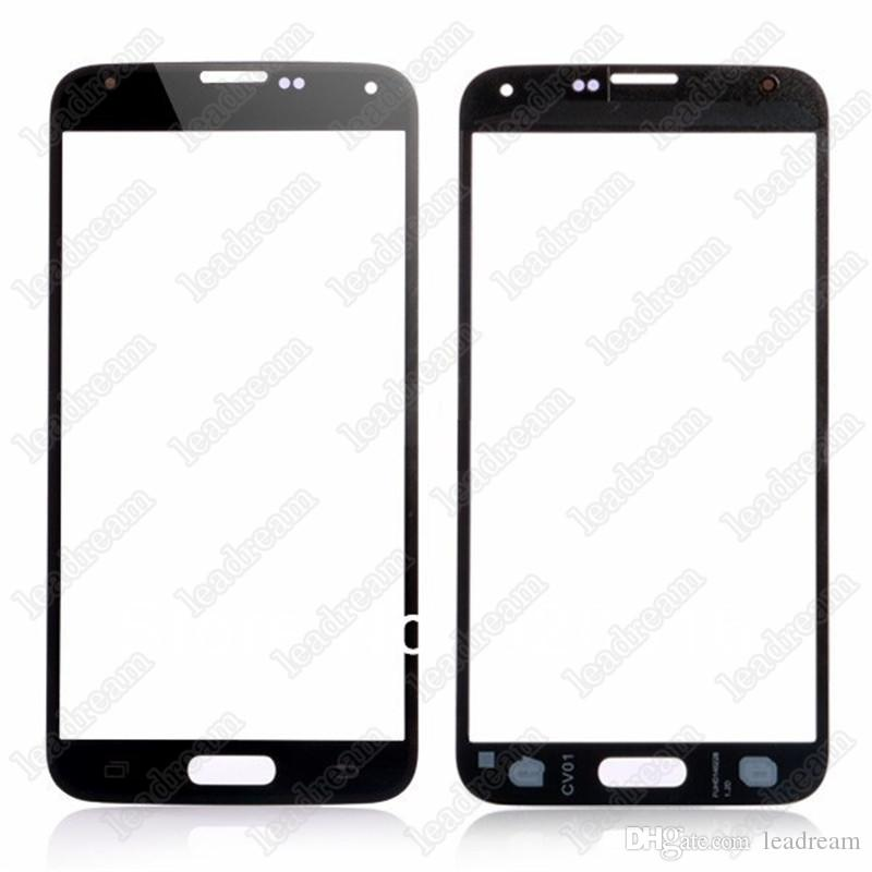 High Quality Front Outer Touch Screen Glass Replacement for Samsung Galaxy s5 i9600 Black White Blue