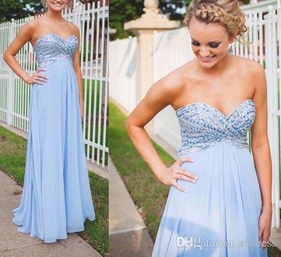 Праздничные голубые платья