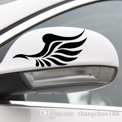 1pair Automóveis Acessórios Exterior adesivos de carro 12cm * 6cm Asas do carro espelho retrovisor adesivos de carro Espelho Retrovisor pasters