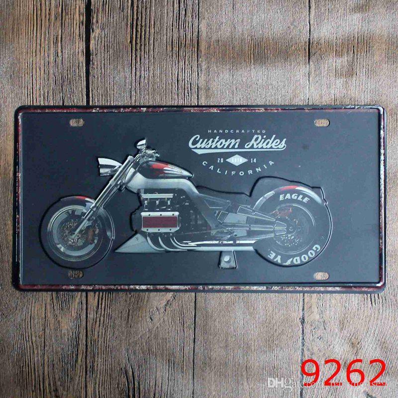 Hot Sale Vintage License Plate Tin Poster Car Plates Number Metal ...