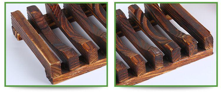 ... 100 Stück Holder Badezimmer Duschablage Stützplatte Stand Holz  Schachtel Naturseife Geschirr Holz Seifenschale Aufbewahrungshalter Bad ...