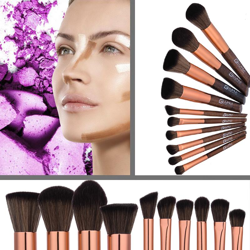 Learnever 10pcs Makeup Brushes Nake Make Up Brush Set Pincel Maquiagem for Beauty Blush Contour Foundation Cosmetics Brushes