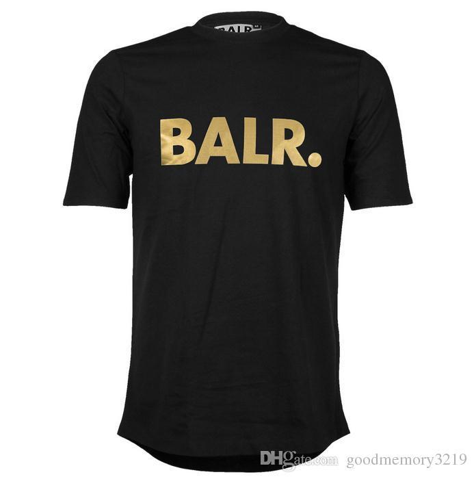 2016 elevación de una camiseta de balr tops balr menwomen camiseta 100% algodón Fútbol ropa deportiva sportswear camisas BALR ropa de la marca