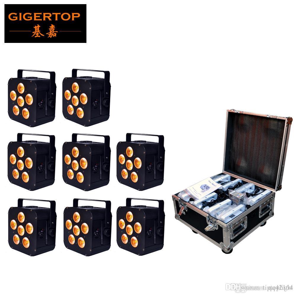 8IN1 charge Flightcase emballage 6pcs * 18W 6in1 RGBAW UV batterie d'alimentation sans fil LED Par LED Slim Par Can événement, Disco Party