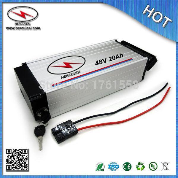 Batteria al litio elettrica astuta della batteria della batteria 48V 20Ah 1000W della batteria di alluminio con il caricatore di BMS + TRASPORTO LIBERO