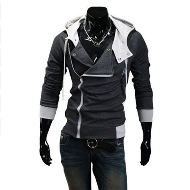 Wholesale-6colors M-6XL 2015 Hoodies 남자 스웨터 남성 트랙 수트 후드 자켓 캐주얼 남성 후드 자켓 moleton Assassins Creed