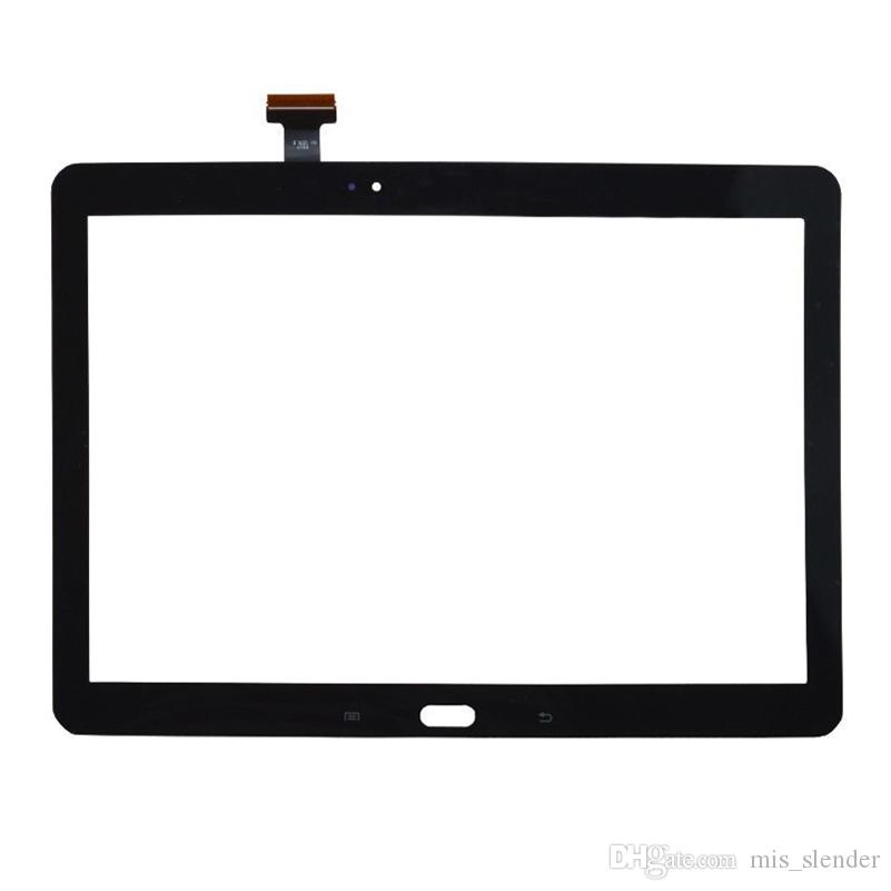 60PCS Tested Black White For Samsung Galaxy Note 10.1 2014 Edition P600 P601 P605 Touch Screen Digitizer Panel Outer Glass Sensor DHL Free