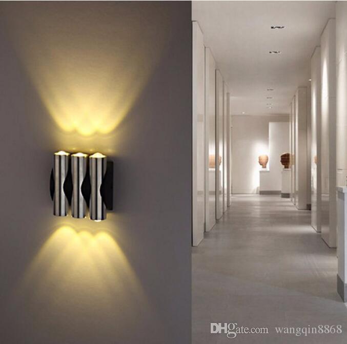 Lampada da parete 4W AC85-265V LED Lampada da parete a LED moderna e creativa con decorazione in alluminio per sala studio