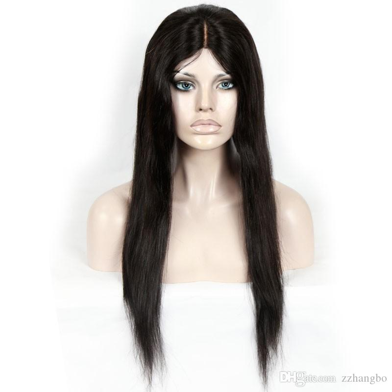 Full Lace Wigs Italy Glueless Silk Wig Pressure Is Greater Full Of My Shoelaces Brazilian Straight Hair Human Infants Human Hair 100% kabell