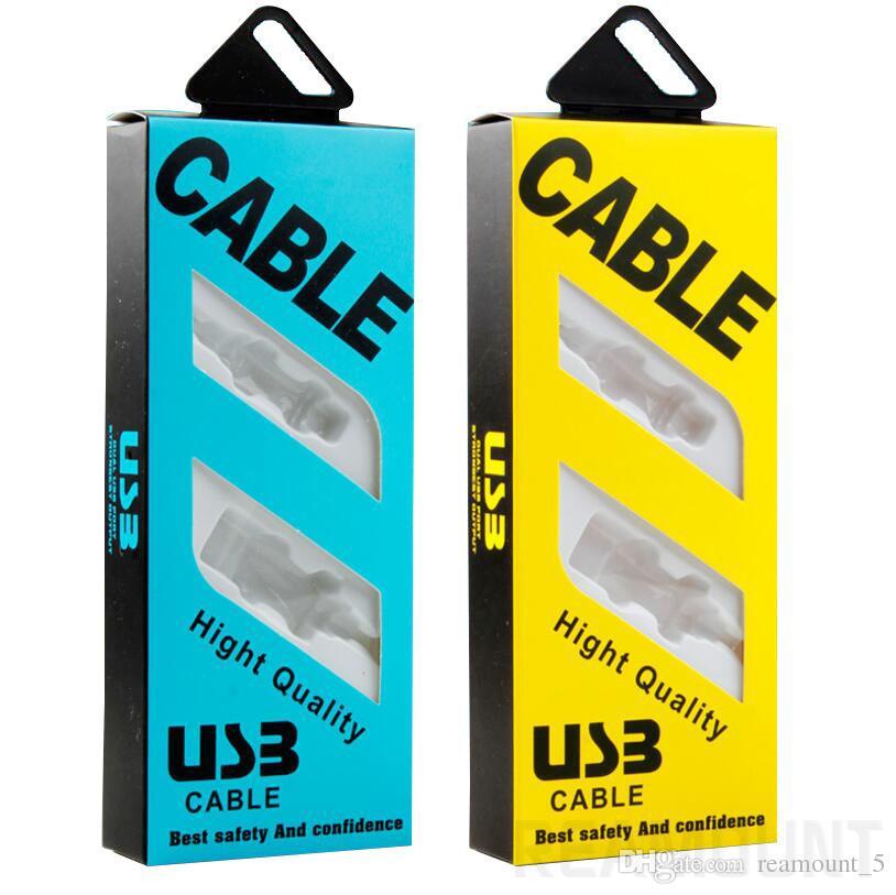Papierverpackung Kartonverpackung mit Einsätzen für Micro-USB-Kabel Verpackungskartons Datenleitung Kabel Ladegerät nach Maß