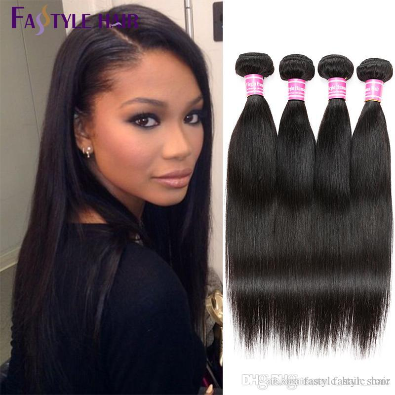 Surprises For U!!!Fastyle Peruvian Straight Hair Extensions Unprocessed Brazilian Malaysian Indian Virgin Human Hair Bundles Dyeable