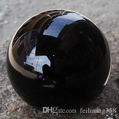 40mm Asya Kuvars Saf siyah Sihirli Kristal cam Şifa Topu Küre