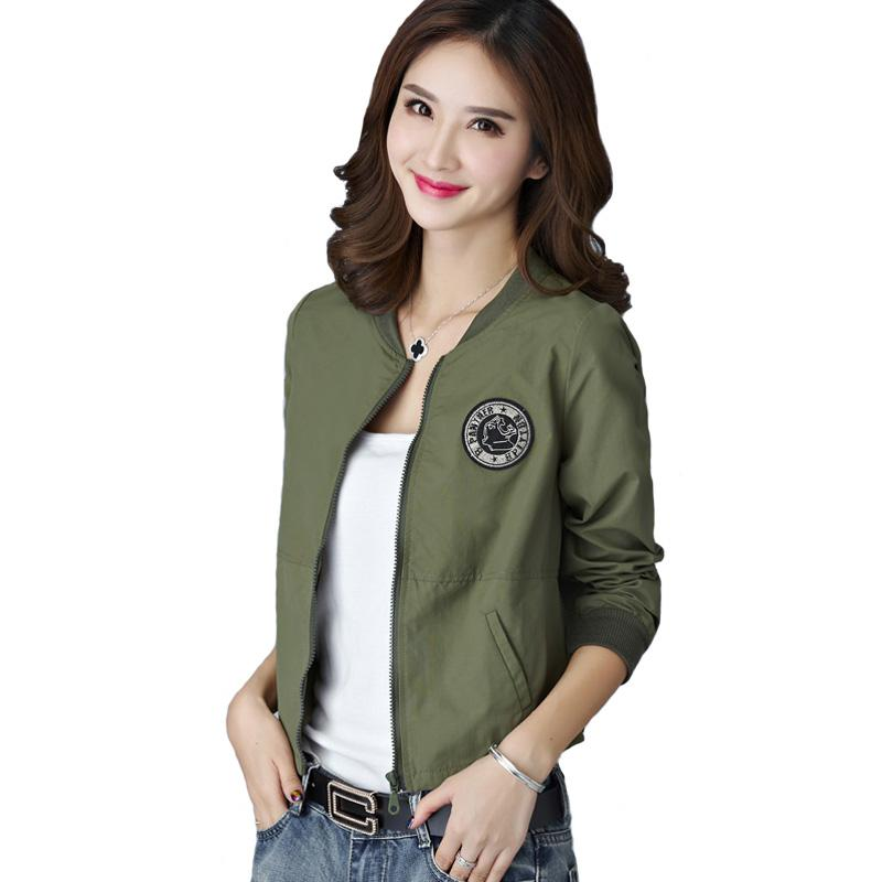 Spring Summer Jacket Women Leisure Loose Plus Size Coat O Neck