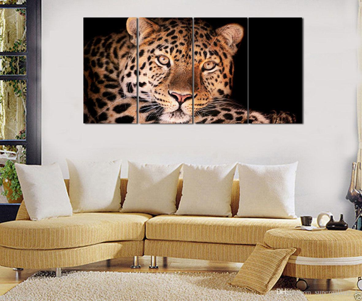 3 Panel HD Canvas Print Modern Animal Art Painting Leopard,Printed on Canvas Home Wall Decor High Quality Canvas custom sizes