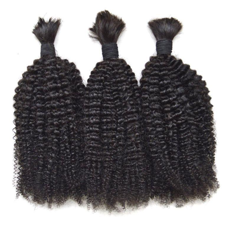 Bulk capelli umani per intrecciare i capelli 3pcs lotto peruviano vergine afro crespo ricci di alta qualità capelli all'ingrosso G-EASY