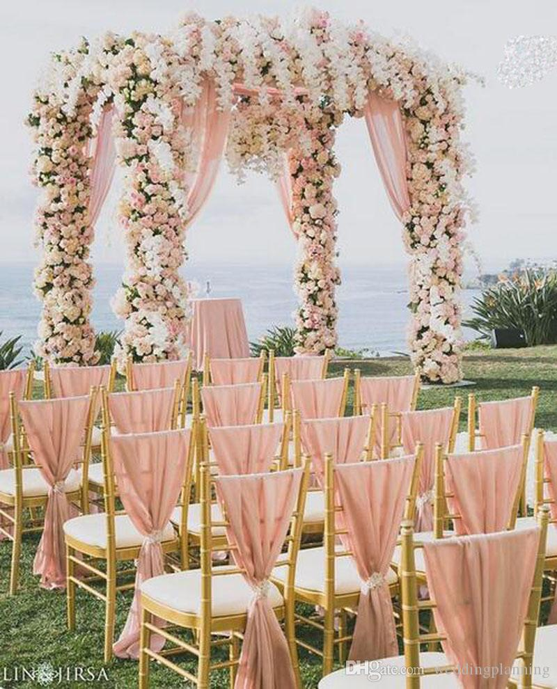 2020 Wholesale High Quality 30d Chiffon Chair Sash Wedding Chair Sashes Formal Party Wedding Chair Covers On Sale From Weddingplanning 1 31 Dhgate Com