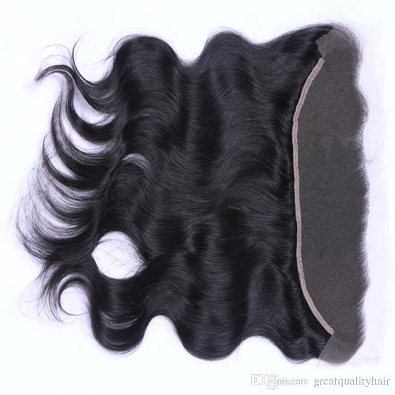 9a البرازيلي الماليزية بيرو الهندي 13x4 مستقيم الجسم موجة عميقة فضفاضة الدانتيل أمامي الأذن إلى الأذن الدانتيل أمامي الحرة الجزء الأوسط أمامي