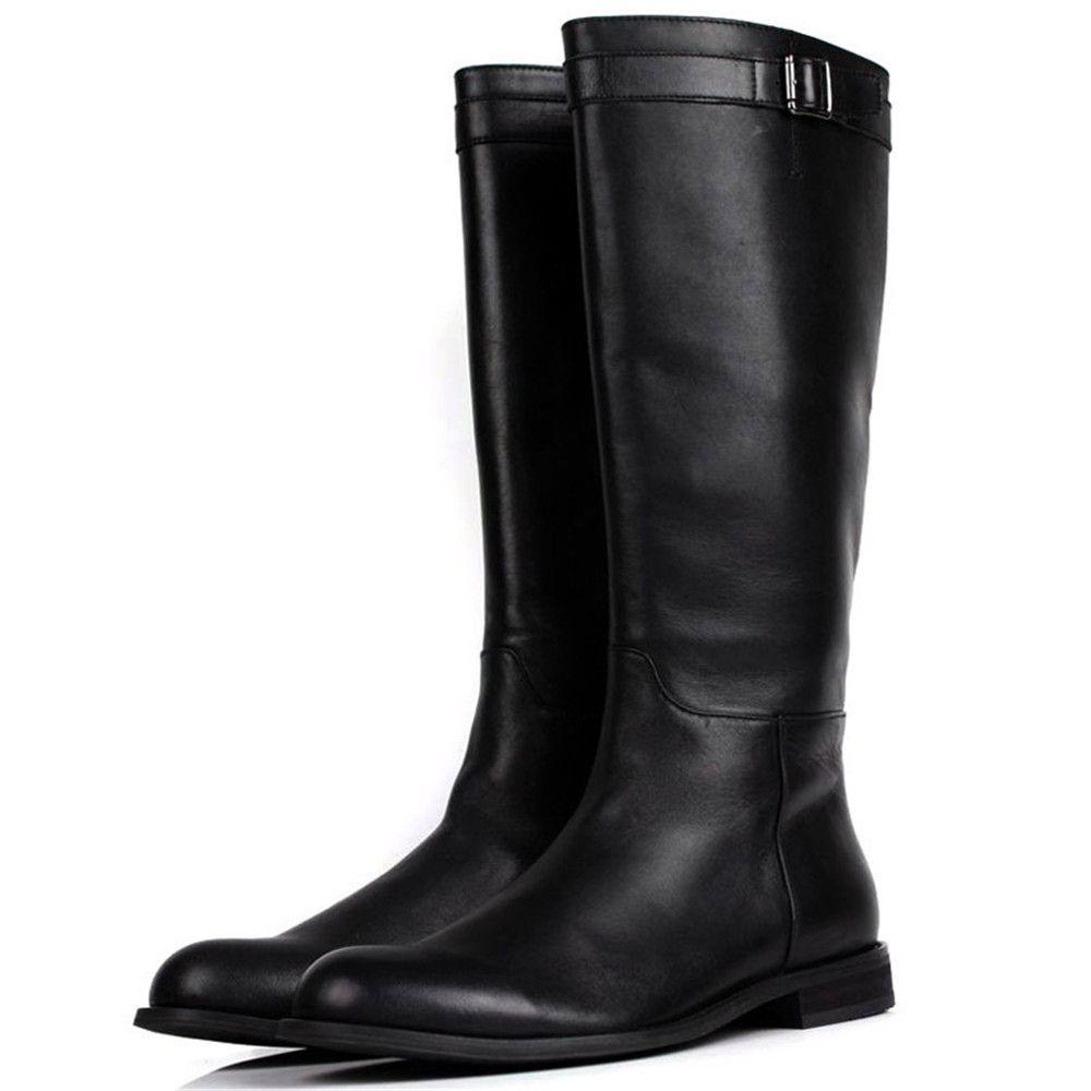 mens black knee high boots