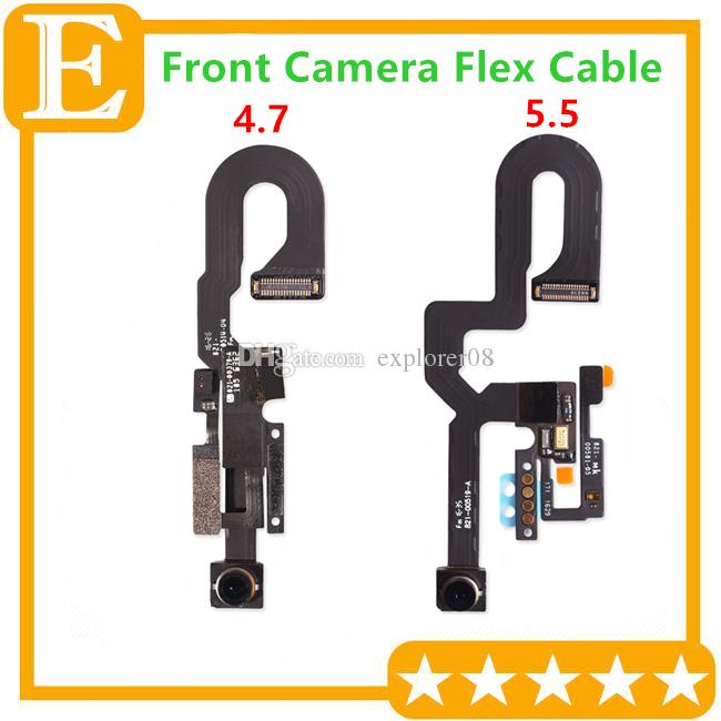 New Front Facing Camera Module Flex Cable for iPhone 7G 4.7'' 7 Plus 5.5'' Replacement Parts DHL