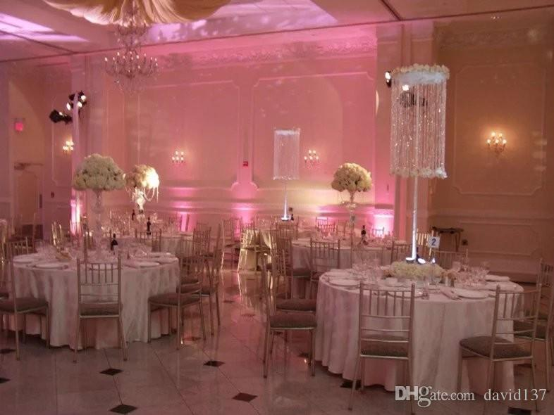 Crystal Wedding Chandelier Flower Floral Stand Candelabrawedding Table Candelabra Centerpiece Decorations
