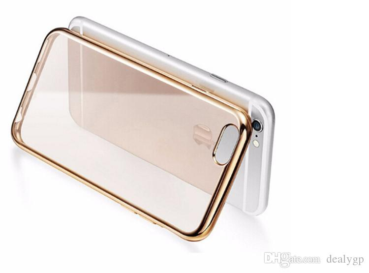 High Quality Slim Thin Soft TPU Cover Crystal Electroplating Bumper Cell Phone Case for iPhone 6S