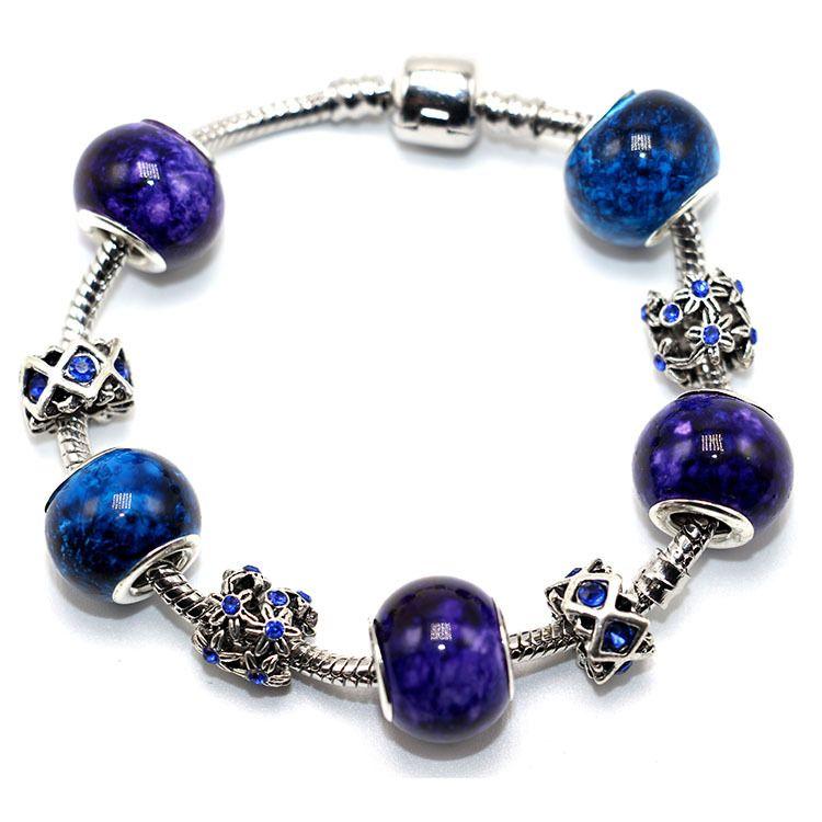 New Arrival Natural Gem Stone Beads Bracelet Luxury Crystal Flower Braclet For Women Girls Jewelry Pulseira Femme
