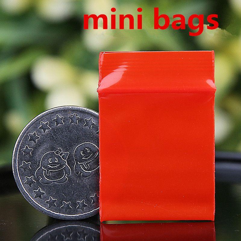 Красный Мини-Миниатюрный Zip-Lock Ручки Пластиковые Упаковочные Пакеты Пищевые Конфеты Бобы Ювелирные Изделия Закрывающиеся Толстые PE Самоуплотняющийся Небольшой Пакет Хранения Подарок