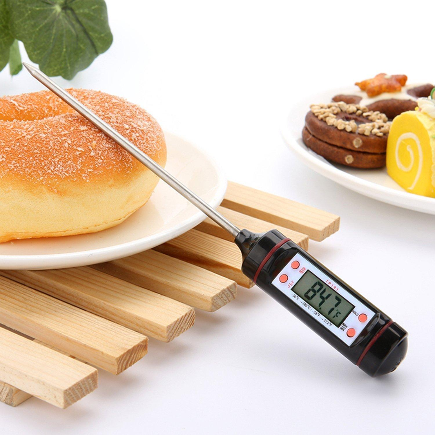 BBQ Digital Cooking Thermometer with LCD Screen and Long Probe, Perfect for Meat, Food, Milk, Grill and Water Measurment Kitchen