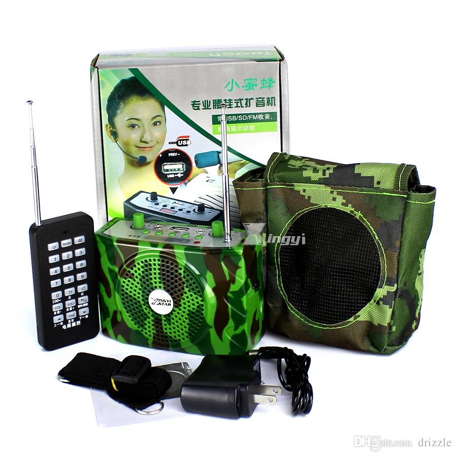 38 W Camuflagem Codorna Caça Pássaro Caller MP3 Player Armadilha Pássaros Pato Chamariz Speaker Mini Amplificador de Voz USB Para Pombo Corvo Ganso Rádio FM