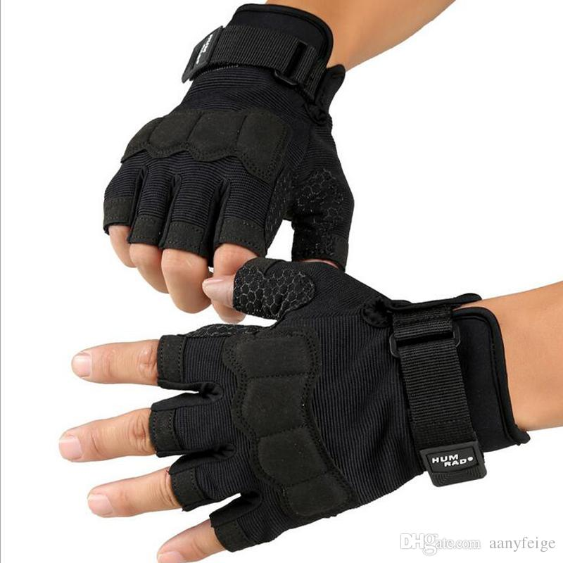 Multi-purpose Outdoor Sports Black Gym Gloves Half Finger Weightlifting Fitness Gloves Men Women Cycling Gloves Size M/L/XL