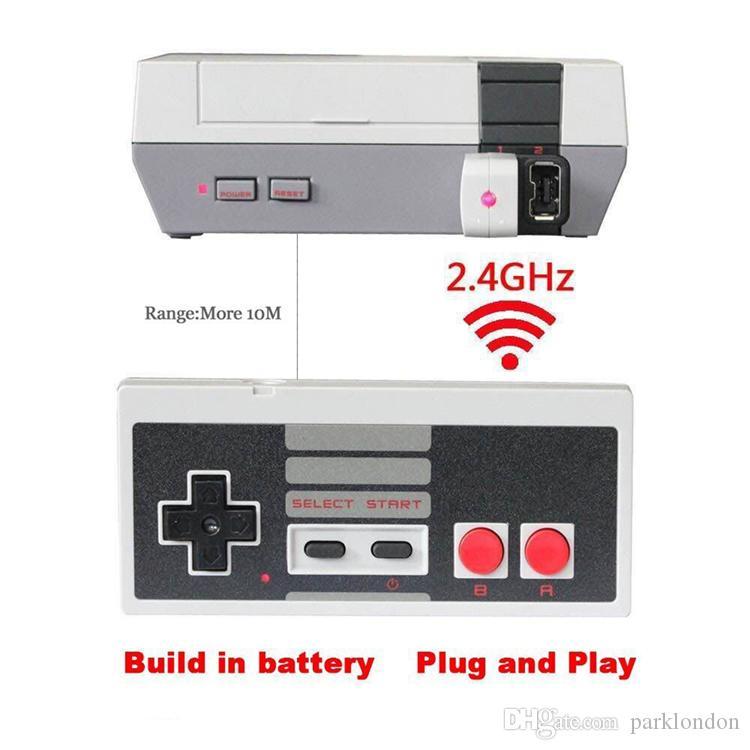 لاسلكي USB التوصيل والتشغيل لوحة تحكم الألعاب لنينتندو ل NES البسيطة أزرار كلاسيك الطبعة مع استقبال بلا تردد