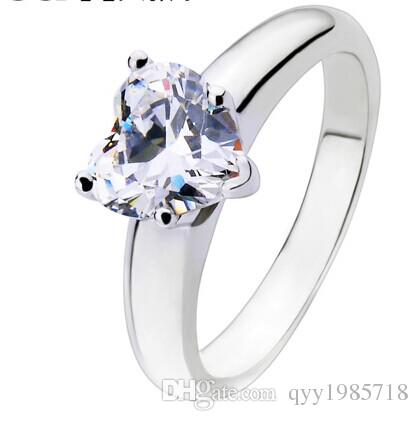 1CT Heart Shape without Mount SONA Diamond Ring Engagement Jewelry For Women Sterling Silver 18K White Gold Finish